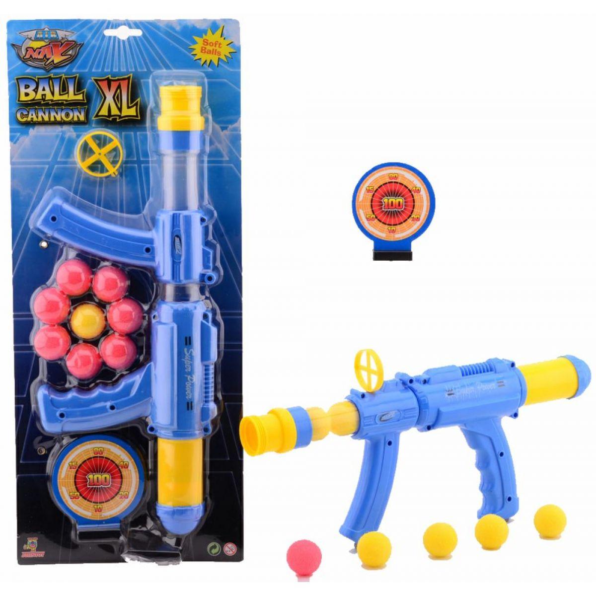 John Toys Pištoľ na penové guličky modrožltá