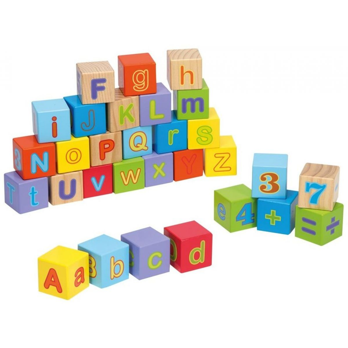 Jouéco Drevené kocky s abecedou 30 ks