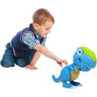 Junior Megasaur ohybný a hryzacie T-Rex modrý 4