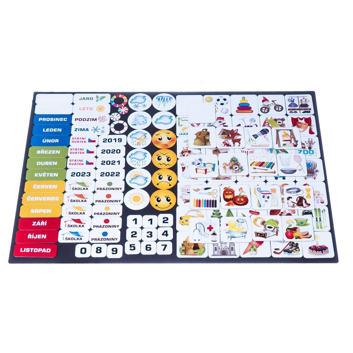 Kalendár magnetický - Škôlka 114 ks magnetiek