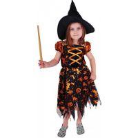 Rappa Karnevalový kostým Čarodenica halloween s klobúkom  veľ. M