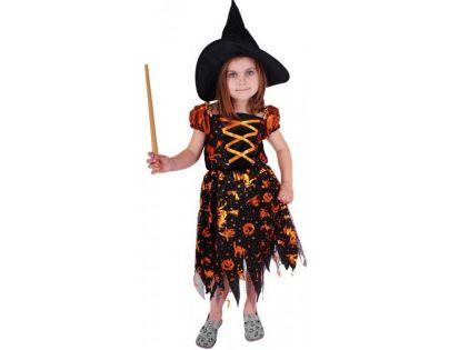 c92a5bc78 Rappa Karnevalový kostým Čarodenica halloween s klobúkom veľ. M | 4kids