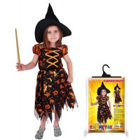 Rappa Karnevalový kostým Čarodejnica halloween s klobúkom veľ. S 2