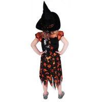 Rappa Karnevalový kostým Čarodejnica halloween s klobúkom veľ. S 3