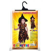 Rappa Karnevalový kostým Čarodejnica halloween s klobúkom veľ. S 4