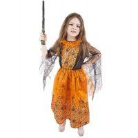 Rappa Karnevalový kostým Oranžový halloween veľ. M