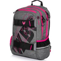 Karton P + P Študentský batoh Oxy Šport Grey Line pink