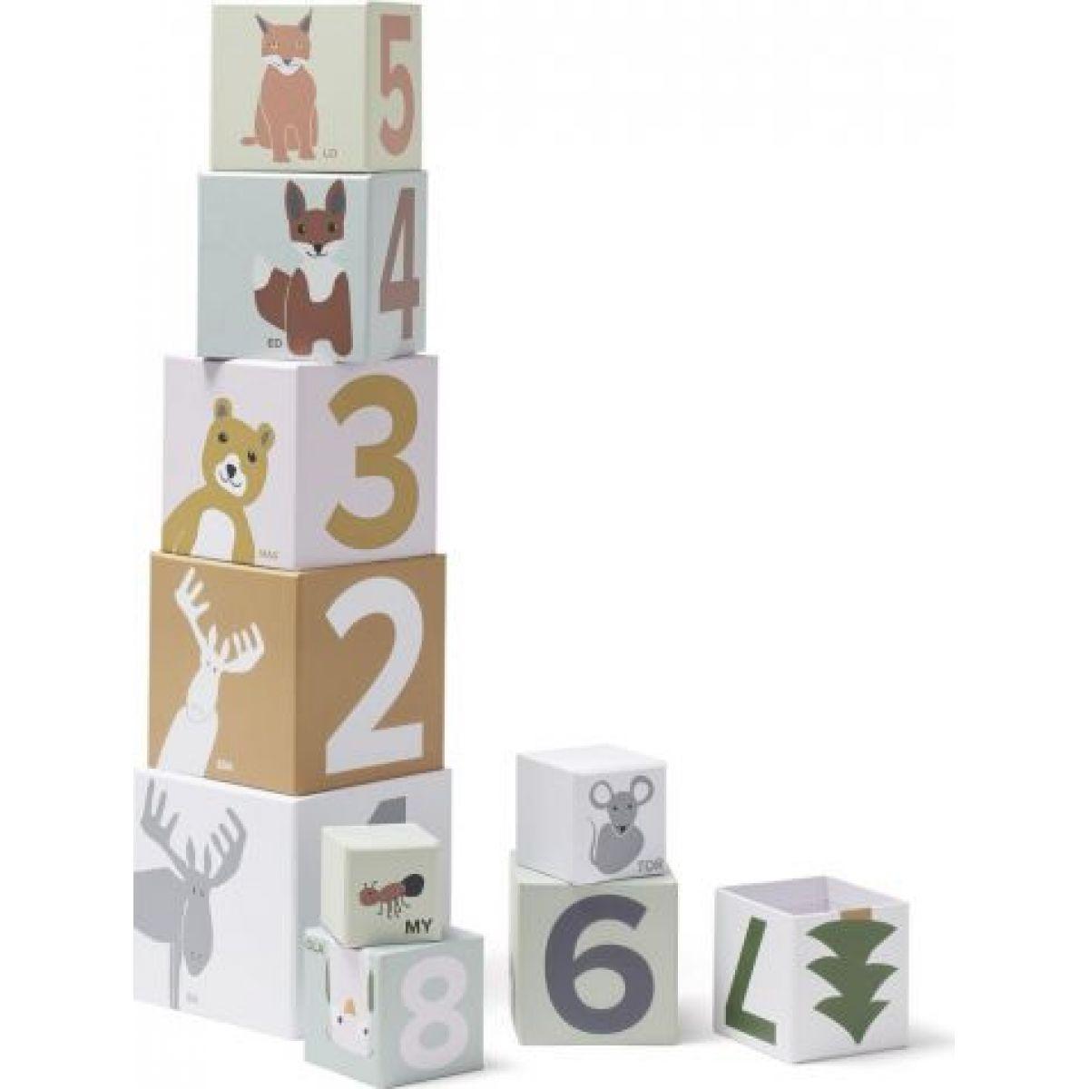 Kids Concept Kocky kartónovej Edvin 10 ks NEW