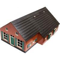 Kids Globe Dřevěný domeček a farma 1:32