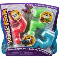 Kinetic Sand Kinetic Foam 3 barvy - Červená, modrá, zelená