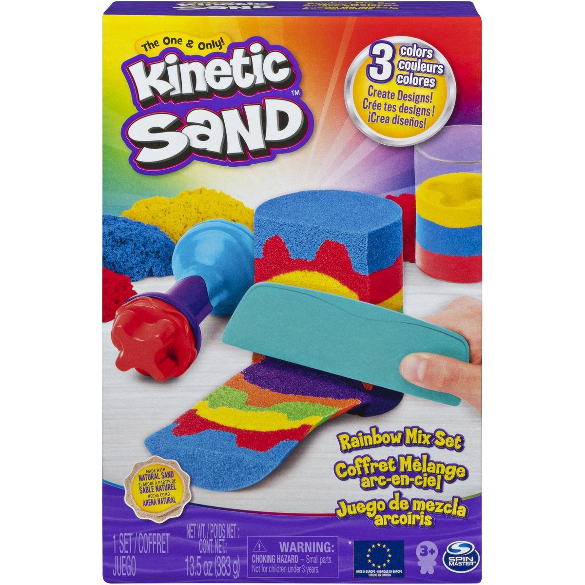 Kinetic Sand dúhová hracia sada