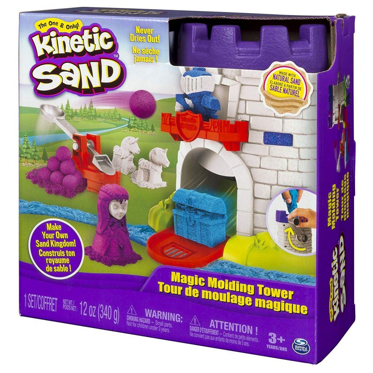 Kinetic Sand středověká věž s doplňky - Poškozený obal