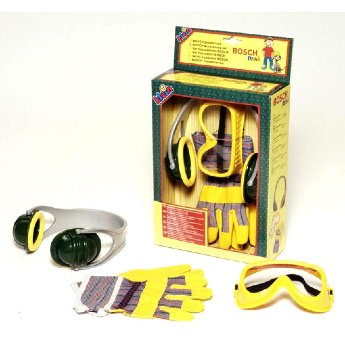 Bosch set rukavice,brýle,sluchátka