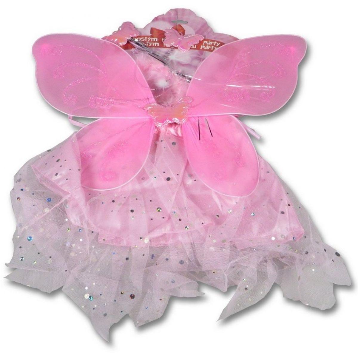 Made Kostým Krídla a sukňa ružová