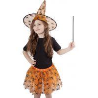 Rappa Kostým Sukně Tutu Halloween s kloboukem
