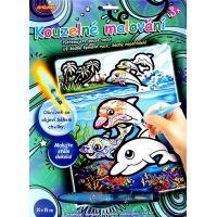 SMT Creatoys Kouzelné malování vodou 20x25cm asst 3 druhy na kartě delfíni
