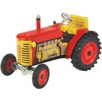 KOVAP Traktor Zetor červený na klíček kov 14cm