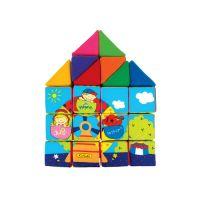 Kids Sada veselých látkových kociek a trojuholníkov 2