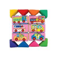 Kids Sada veselých látkových kociek a trojuholníkov 3