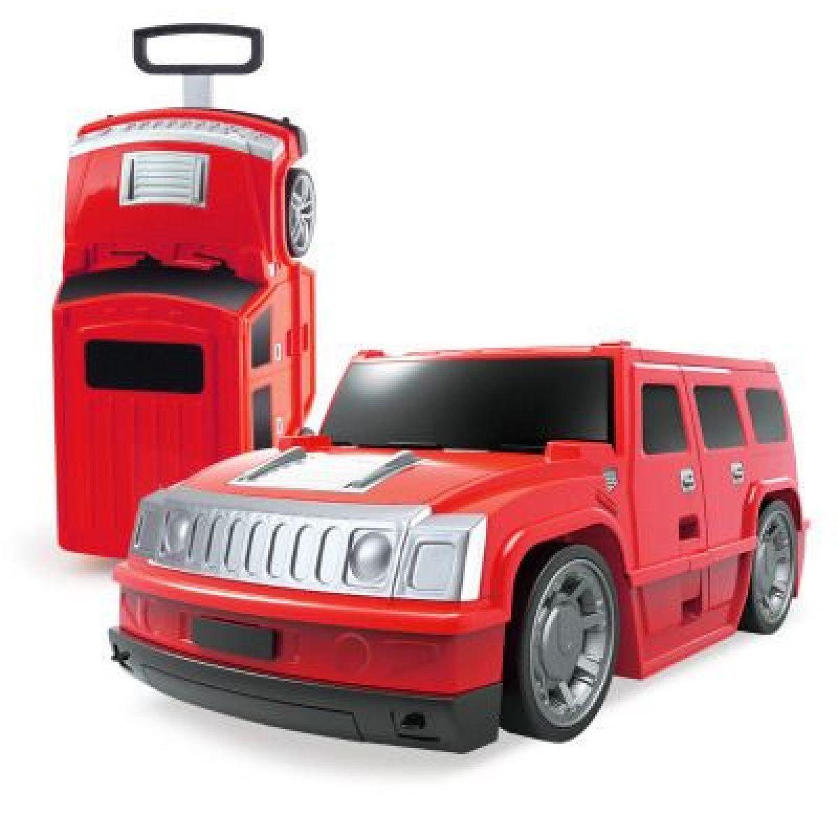 Kufor auto Hummer červený