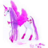Rappa Kôň česacie s krídlami 34 cm, zv.,svetlo