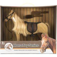 Kôň veľký s doplnkami flíska 38cm 3