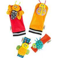 Lamaze Hrkajúce ponožky a náramky zvieratka červeno-oranžovej