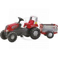 Rolly Toys 800261 - Šliapací traktor Rolly Junior RT s vlečkou červenošedý