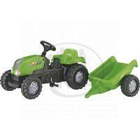 Rolly Toys Šliapací traktor Rolly Kid s vlečkou zelený