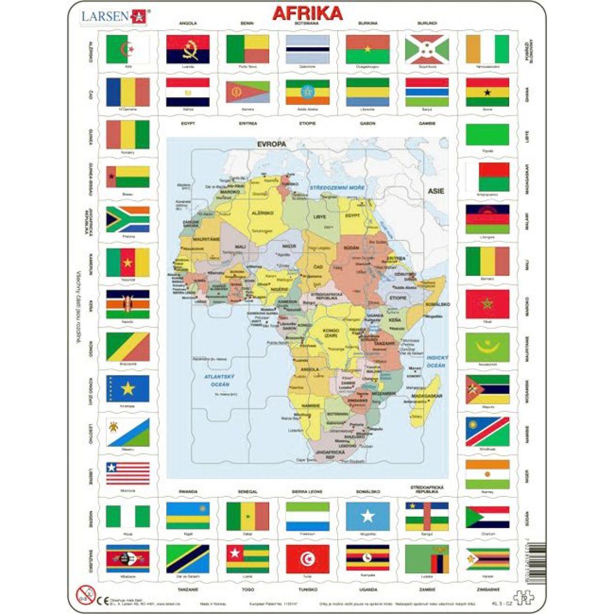 Larsen Puzzle Mapa Afriky