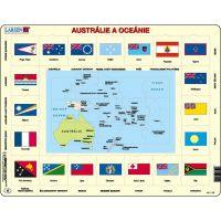 Larsen Puzzle Mapa Austrália a Oceánia