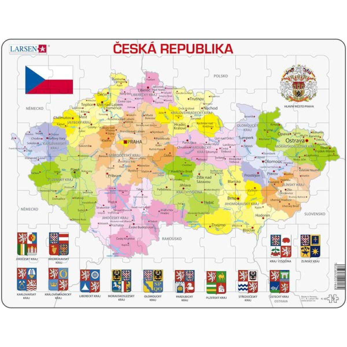 Larsen Výučbové puzzle Mapa Česká republika