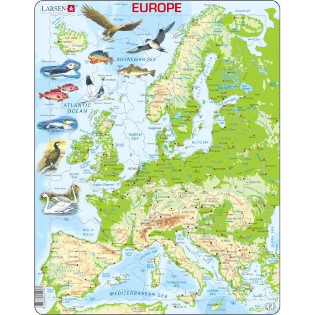 Larsen Puzzle Mapa Európy geografická