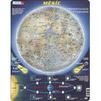 Larsen Výučbové puzzle Mesiac mapa