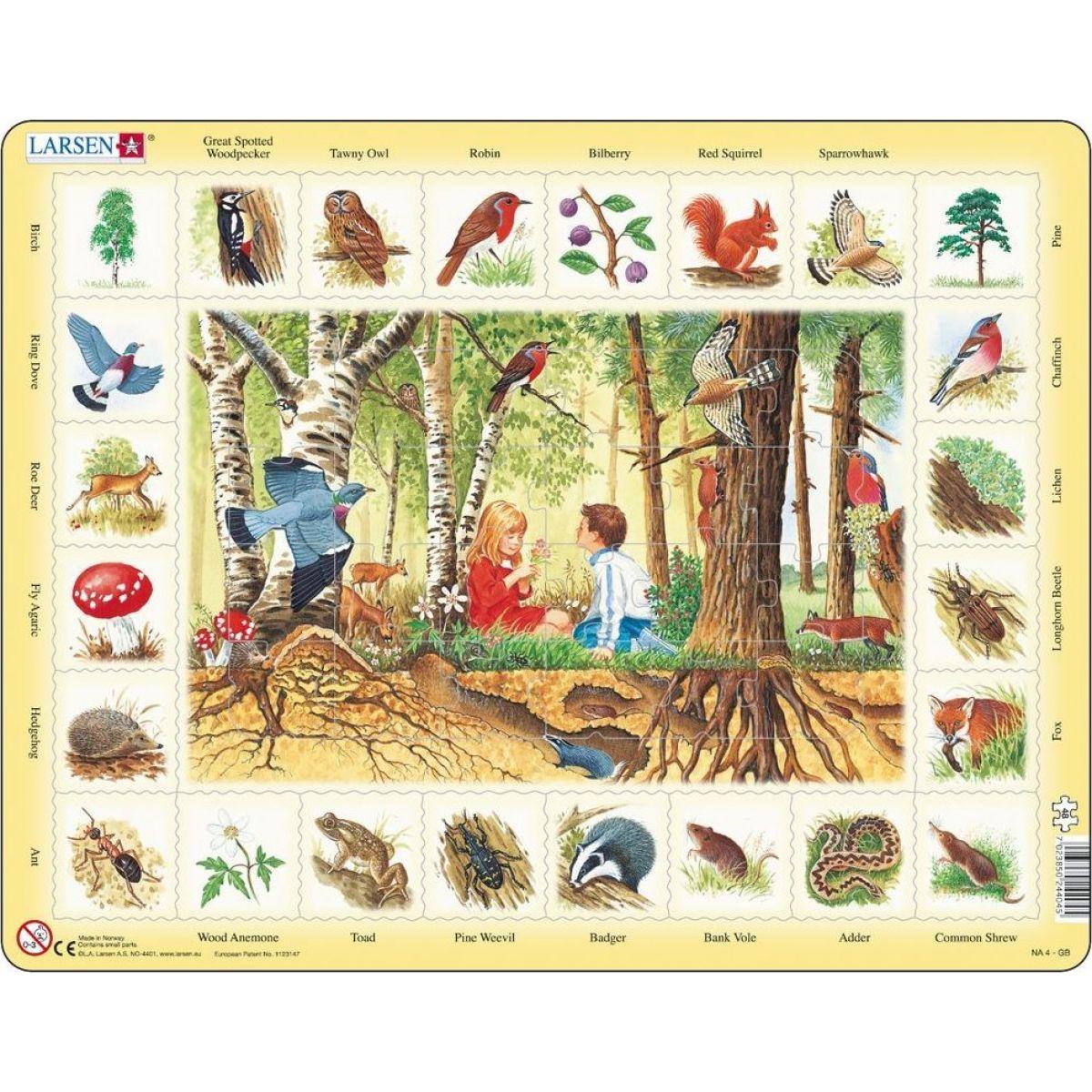 Larsen Puzzle Život v lese
