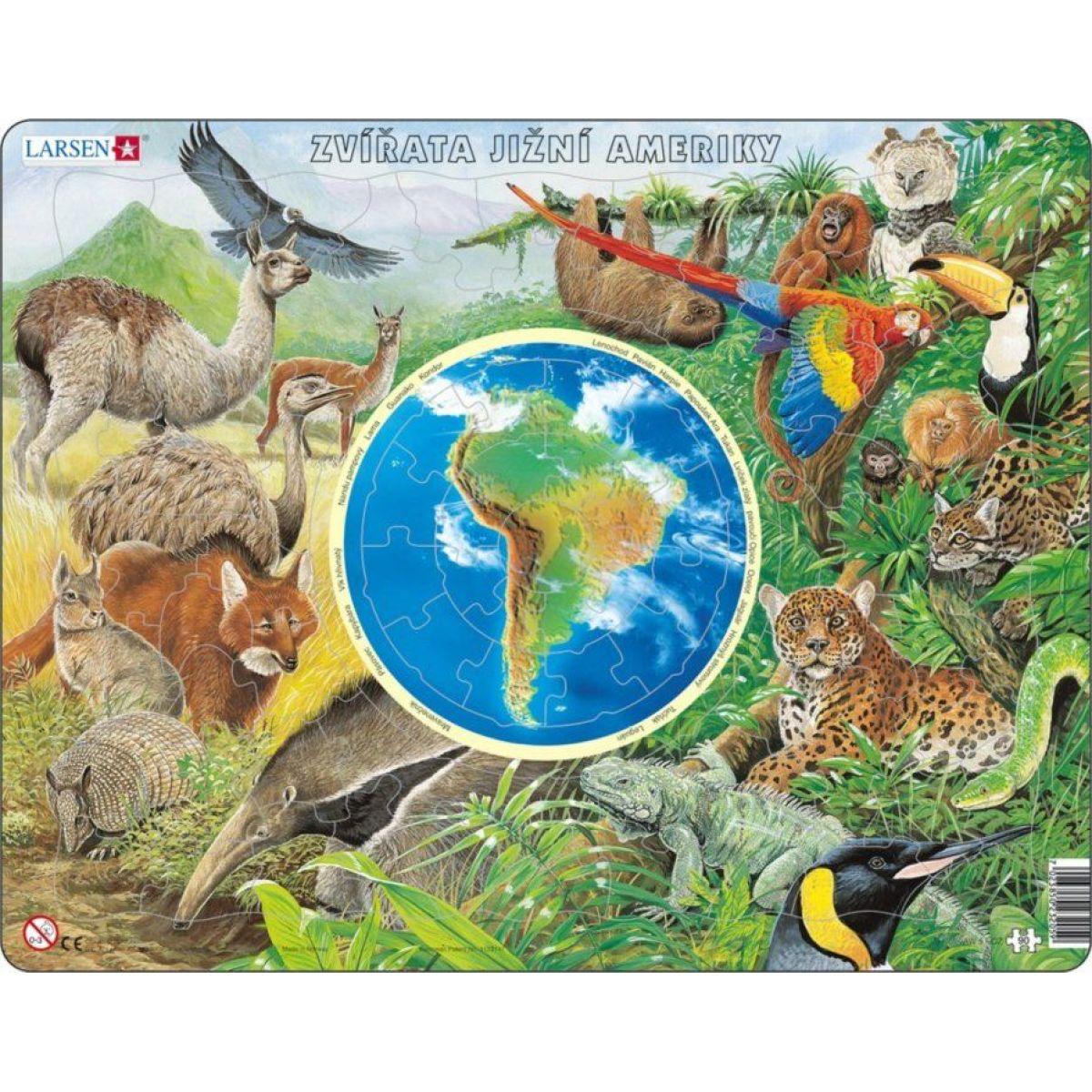 Larsen Puzzle Zvieratá Južnej Ameriky