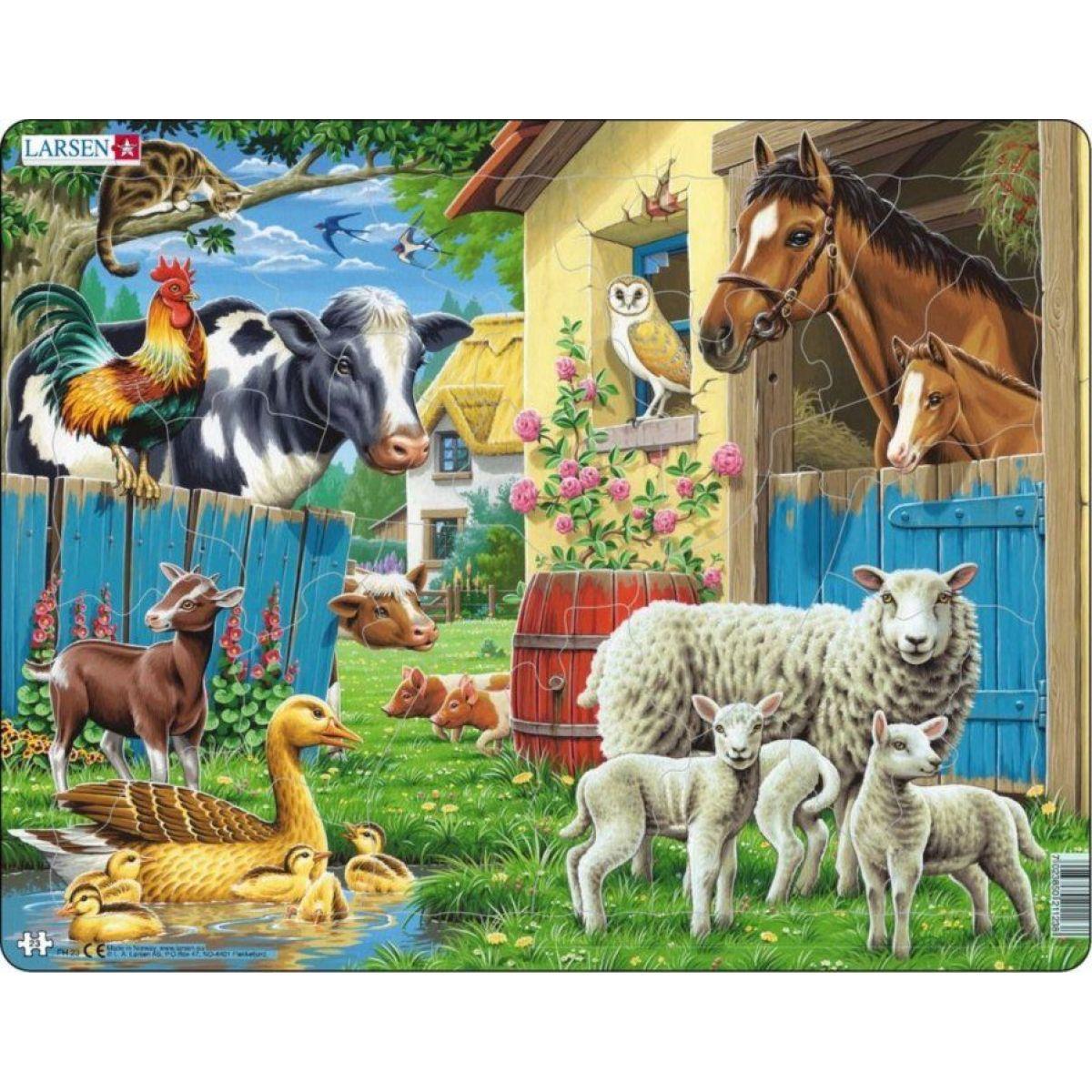 Larsen Puzzle Zvieratá na farme