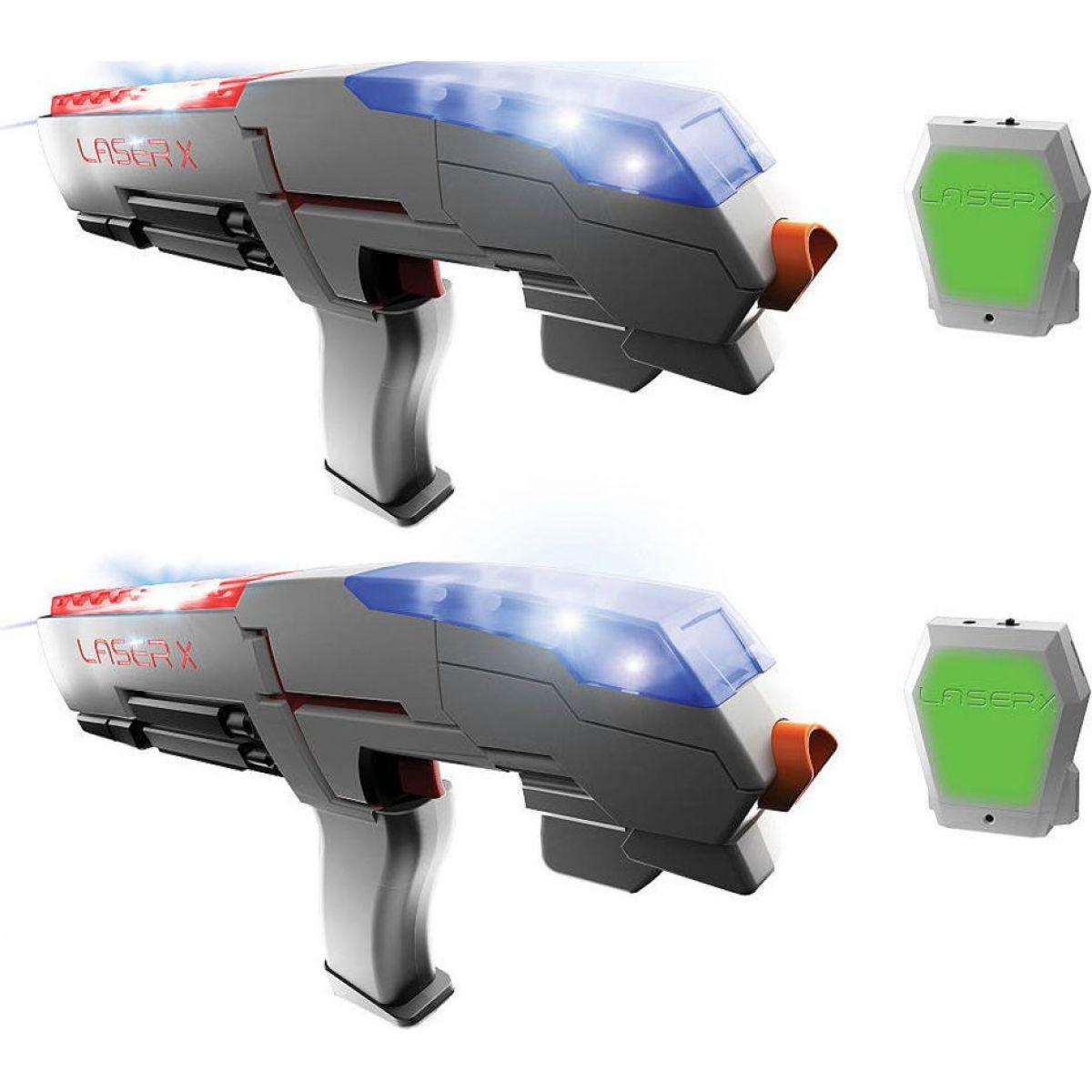 Laser-X pištoľ na infračervené lúče dvojitá sada