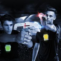 Laser-X pištoľ na infračervené lúče dvojitá sada 5