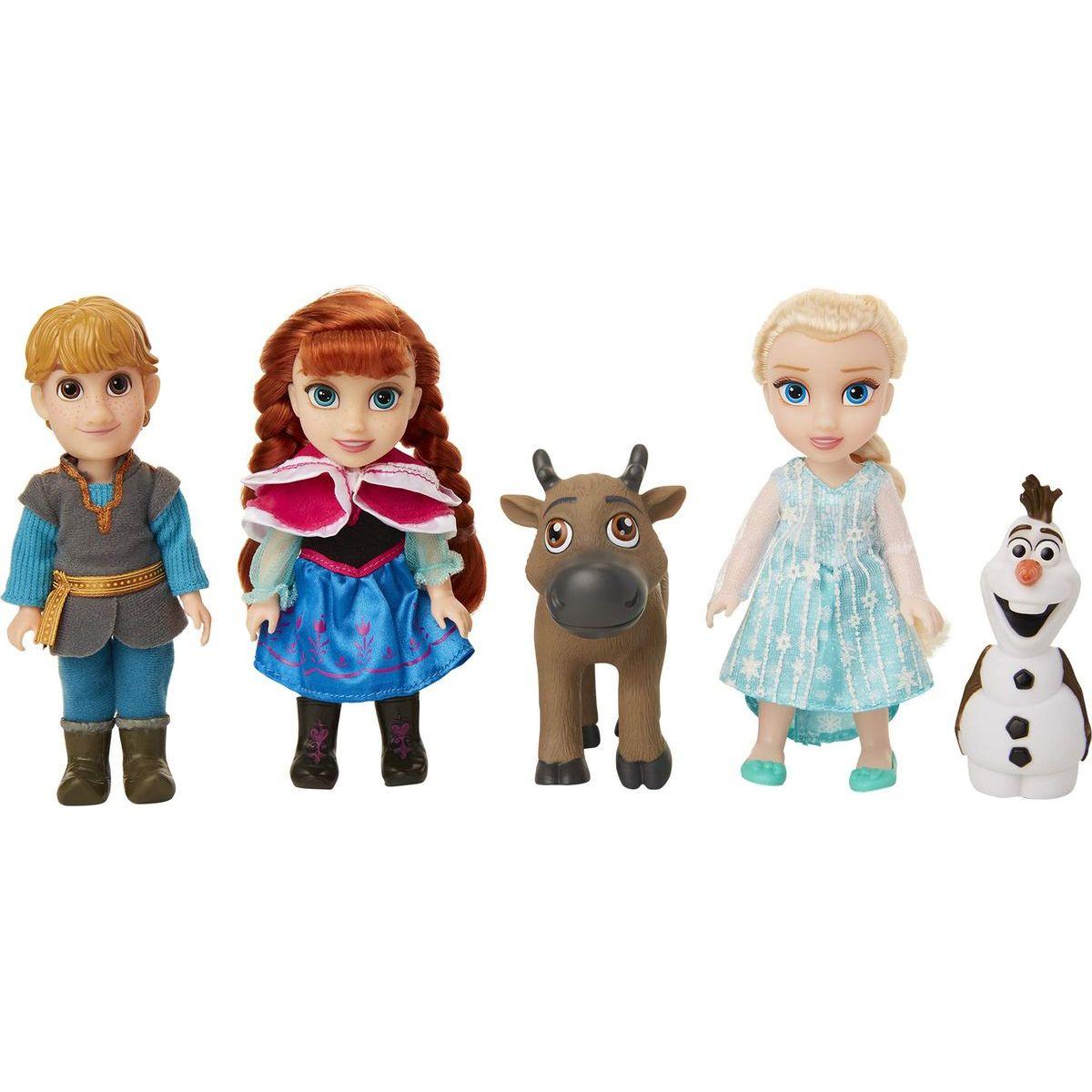 Ľadové kráľovstvo II Veľký set s figúrkami Anna, Elsa, Olaf, Kristof 15 cm