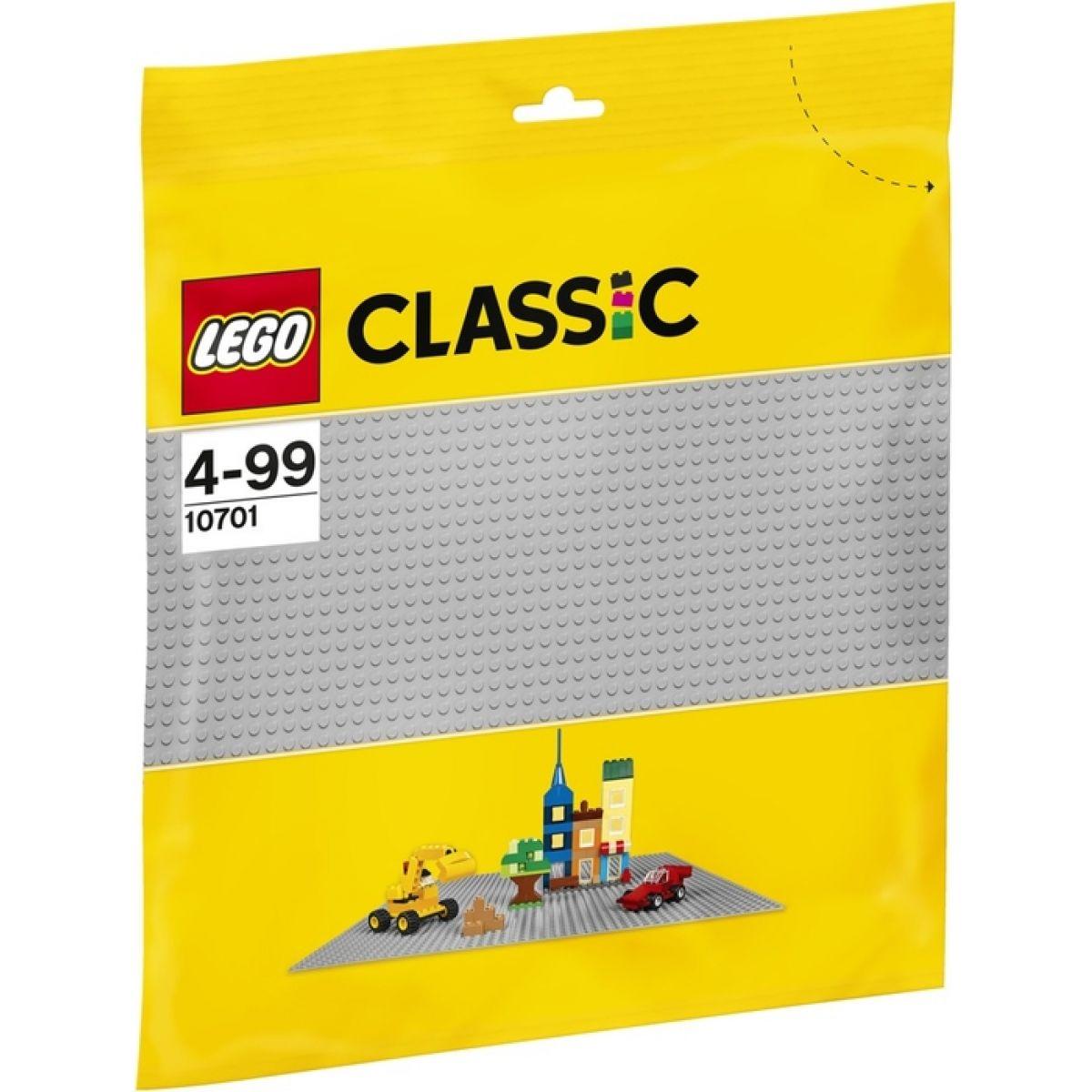 LEGO Classic 10701 Šedá podložka na stavanie