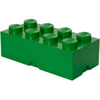 LEGO Box na desiatu 10 x 20 x 7,5 cm tmavozelená