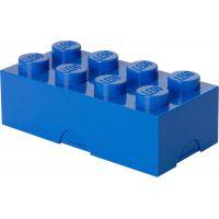 LEGO box na desiatu modrá