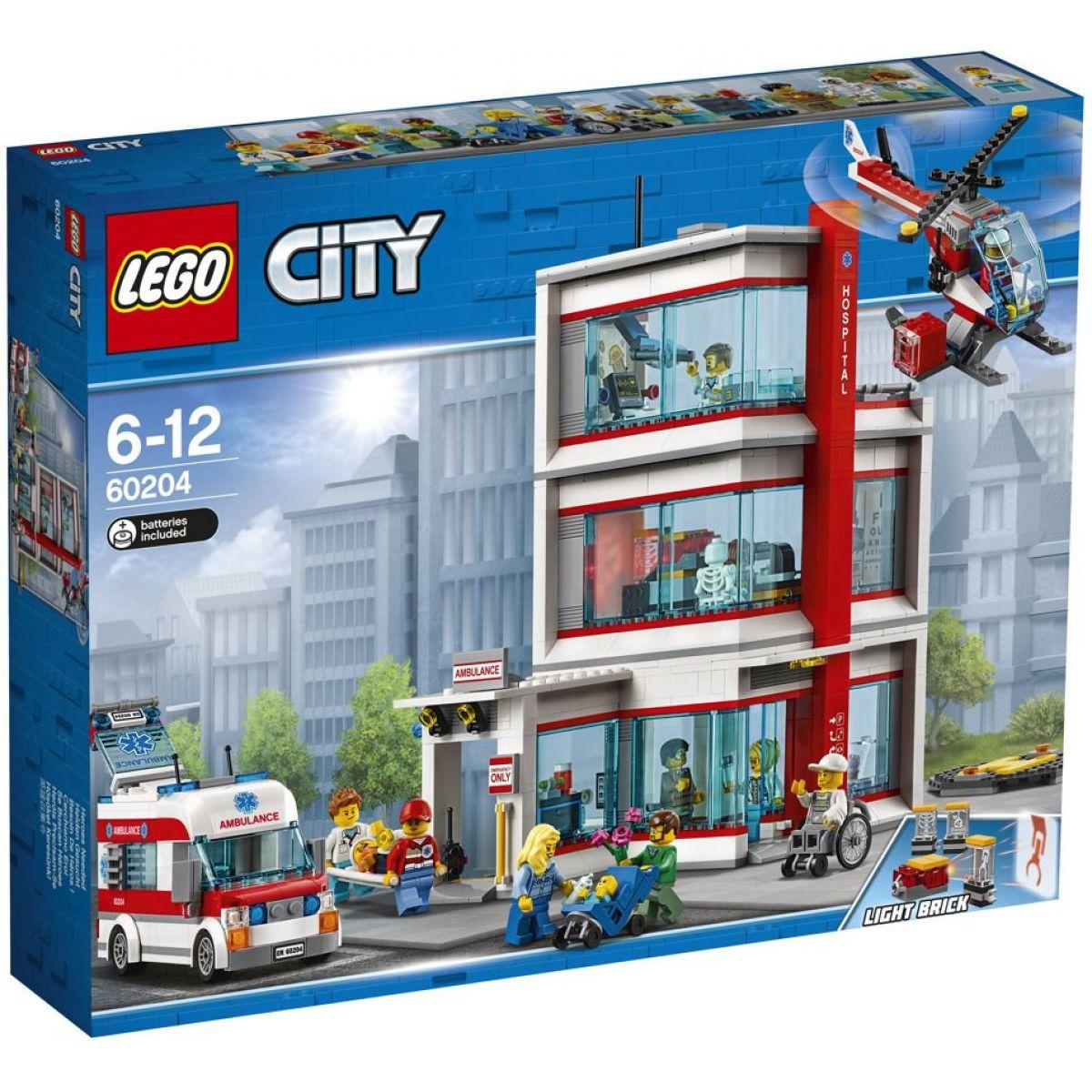 LEGO City 60204 Nemocnica - Poškodený obal