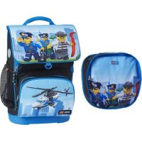 LEGO CITY Police Chopper Optimo školní aktovka, 2 dílný set