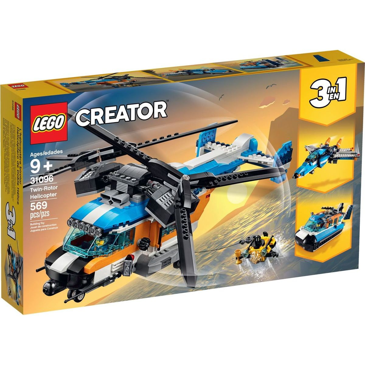 LEGO Creator 31096 Helikoptéra s dvoma rotormi - Poškodený obal