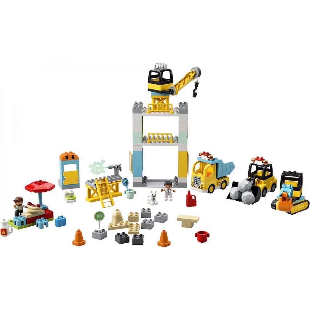 LEGO DUPLO Town 10933 Stavba s věžovým jeřábem