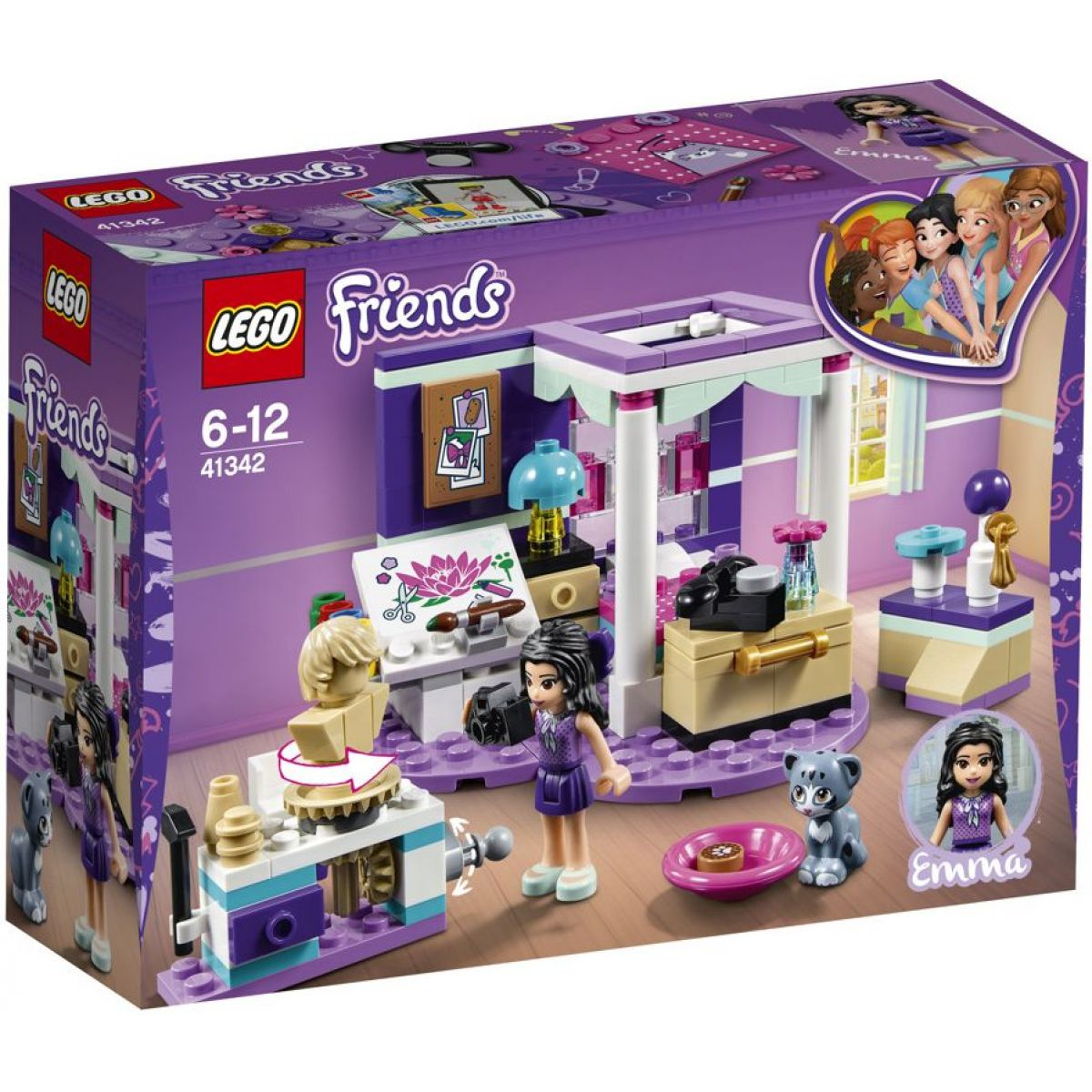 LEGO Friends 41342 Emma a jej luxusná izba