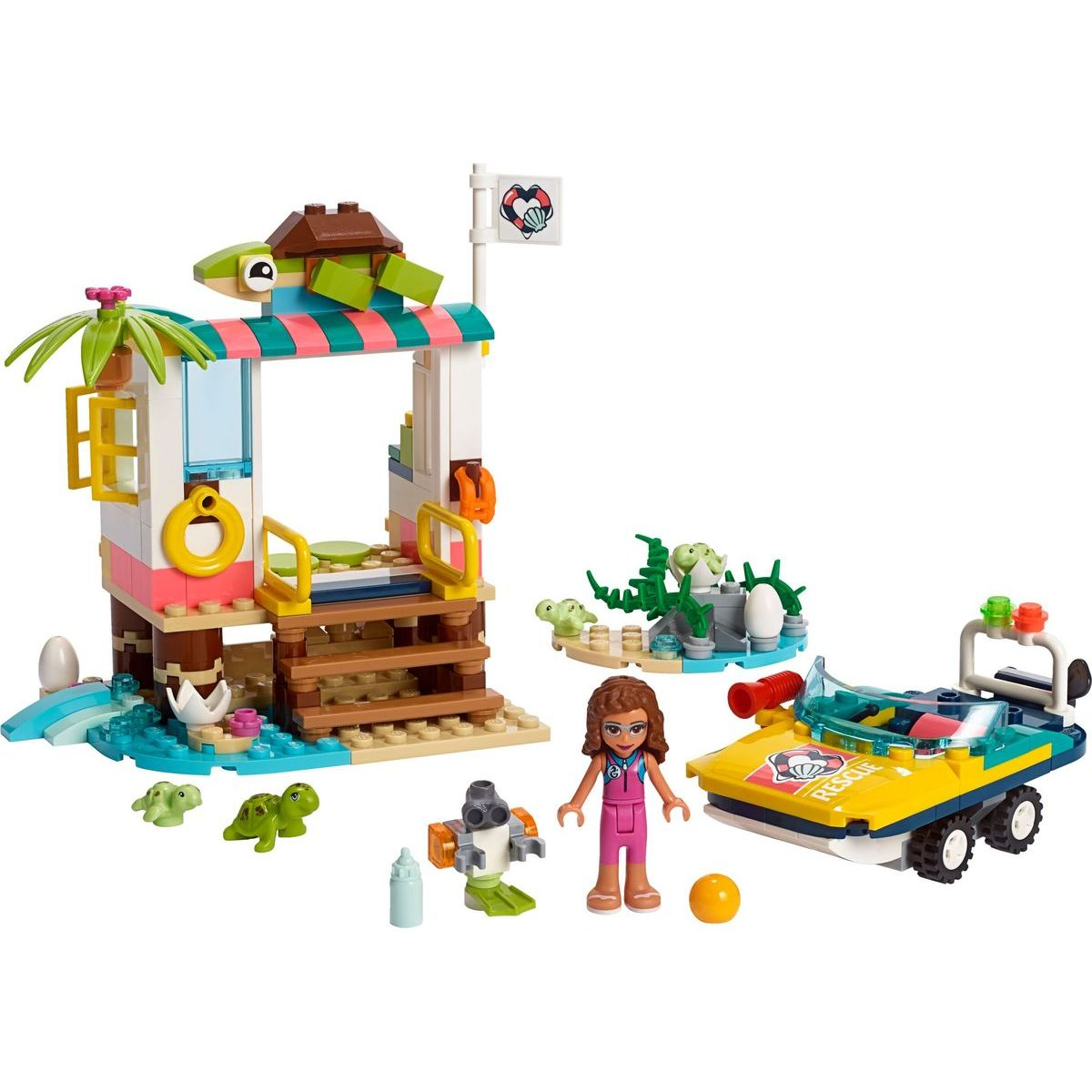 LEGO Friends 41376 Misia na záchranu korytnačiek