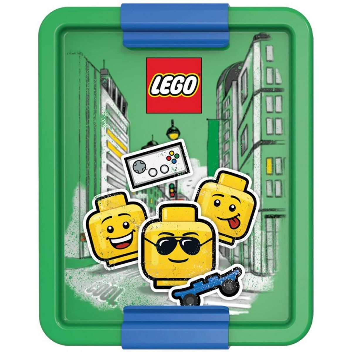 LEGO Iconic Boy box na desiatu modrozelená